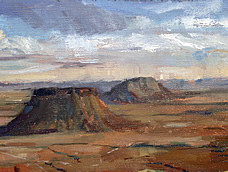 Clem St John Webster<br>Flat top mountains in the Kalahari